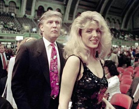 A high-profile relationship that fit into the trophy category was Donald Trump and Marla Maples.